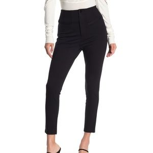 Free People Elena High Rise Black Pants NEW